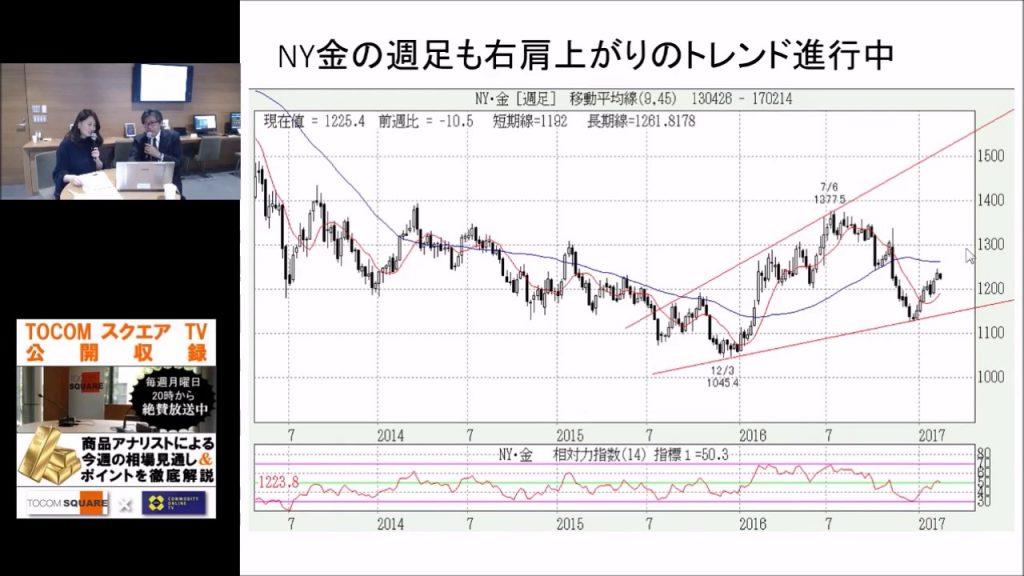 金・プラチナ・ゴムのマーケット分析【TOCOM SQUARE TV 2017/02/20】