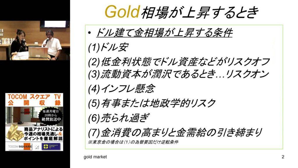 「金相場の基礎と見通し」TOCOMスクエアTV2016/09/12
